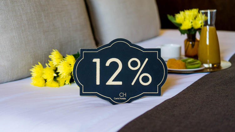 Enjoy a 12% discount on your booking