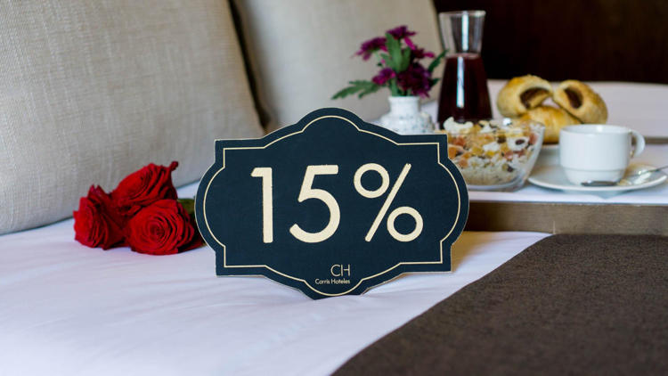 Enjoy a 15% discount on your booking